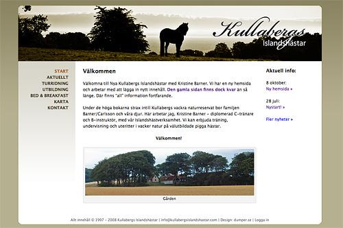 Kullabergs Islandshästar - nya hemsidan