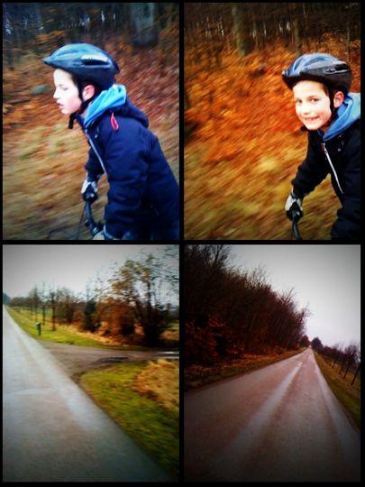 Axel på väg till Mölle